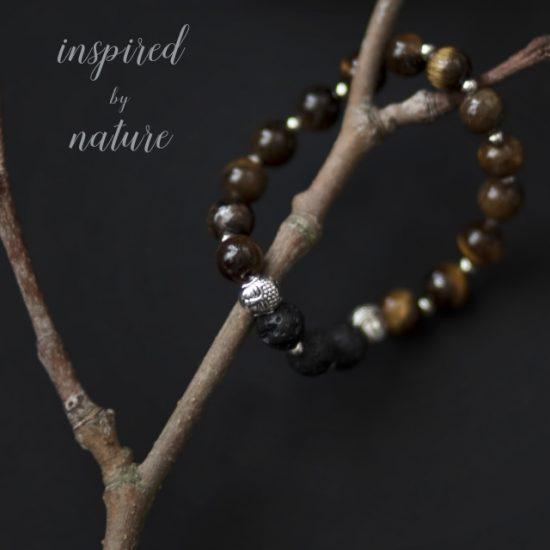 Meditation Bracelet (Brown) and Essential Oil Blend