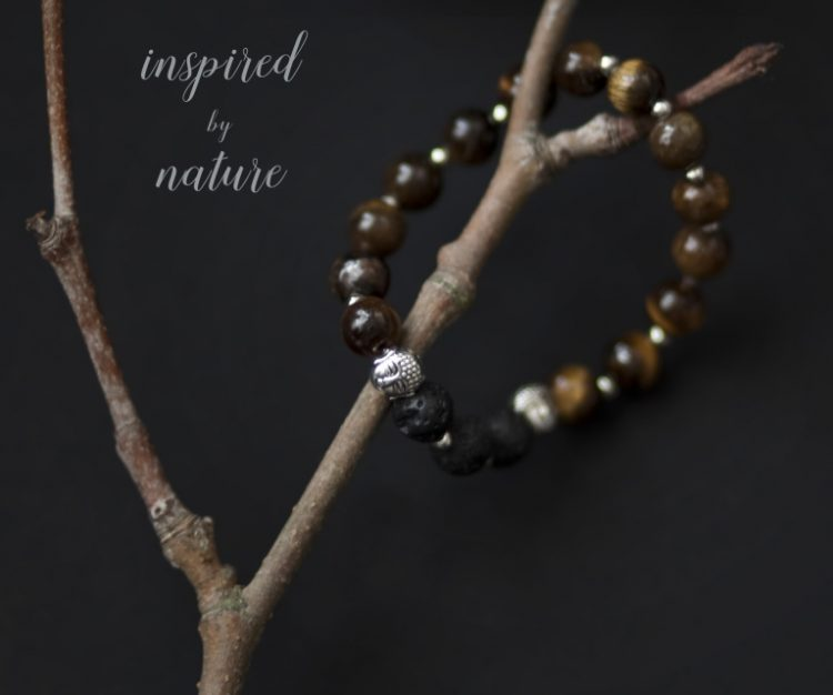 Meditation Bracelet (Brown) and Essential Oil Blend