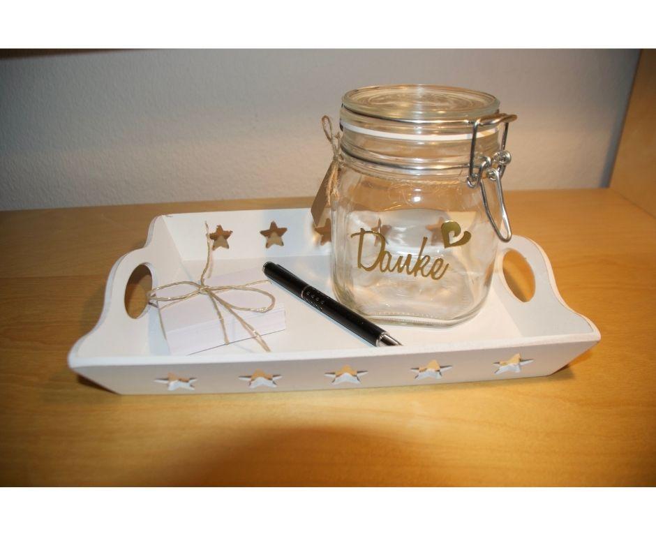 Gratitude Jar to increase happiness