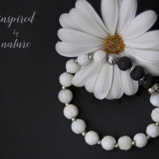 Meditation Bracelet (White) and Essential Oil Blend