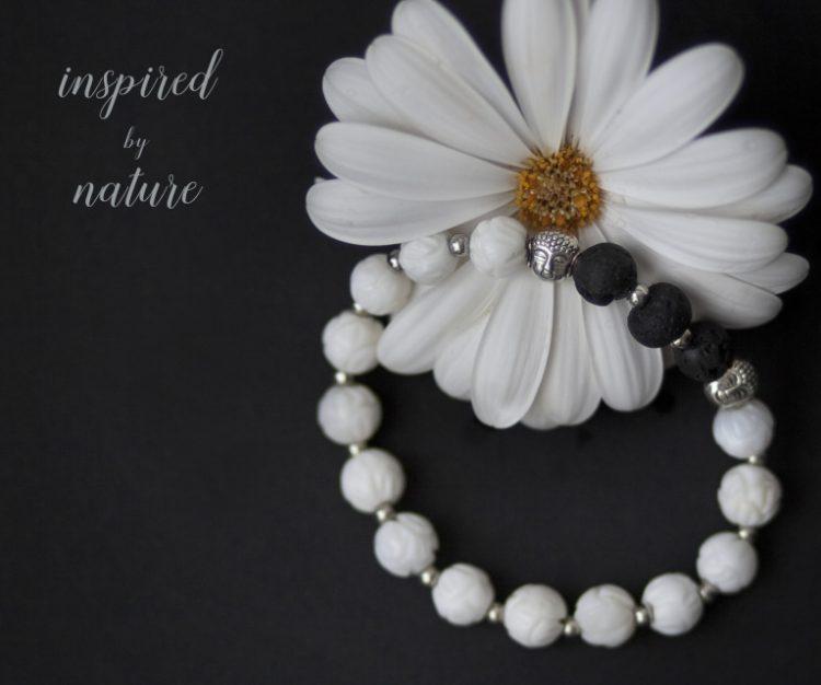 Meditation Bracelet (White) and Essential Oil Blend